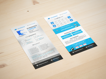Design of leaflets for a web-design agency